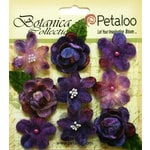 Petaloo - Botanica Collection - Floral Embellishments - Vintage Velvet Minis - Purple