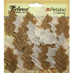 Petaloo - Textured Elements Collection - Floral Embellishments - Burlap Holly Leaves
