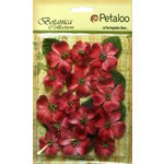 Petaloo - Botanica Collection - Floral Embellishments - Vintage Velvet Dogwoods - Red