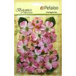 Petaloo - Botanica Collection - Floral Embellishments - Vintage Velvet Dogwoods - Pink