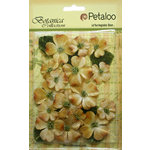 Petaloo - Botanica Collection - Floral Embellishments - Vintage Velvet Dogwoods - Antique Gold