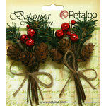 Petaloo - Botanica Collection - Floral Embellishments - Pine Picks with Cones and Berries