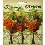 Petaloo - Botanica Collection - Floral Embellishments - Fall Maple Leaf Picks - Burlap