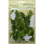 Petaloo - Botanica Collection - Floral Embellishments - Vintage Velvet Holly Leaves