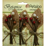 Petaloo - Botanica Collection - Floral Embellishments - Burlap Berry Picks