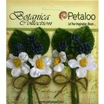 Petaloo - Botanica Collection - Floral Embellishments - Flowering Berry Picks - Blue Berry