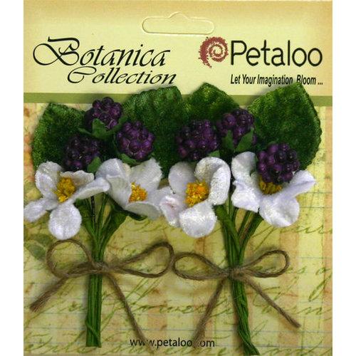Petaloo - Botanica Collection - Floral Embellishments - Flowering Berry Picks - Purple Berry