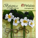 Petaloo - Botanica Collection - Floral Embellishments - Flowering Berry Picks - Black Berry