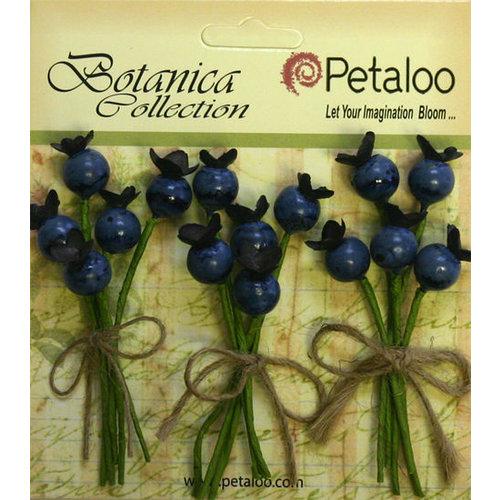 Petaloo - Botanica Collection - Floral Embellishments - Blueberry Picks - Blue
