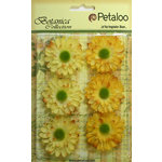 Petaloo - Botanica Collection - Floral Embellishments - Gerber Daisy - Yellow