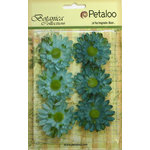 Petaloo - Botanica Collection - Floral Embellishments - Gerber Daisy - Teal