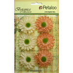 Petaloo - Botanica Collection - Floral Embellishments - Gerber Daisy - Peach