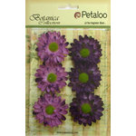 Petaloo - Botanica Collection - Floral Embellishments - Gerber Daisy - Purple