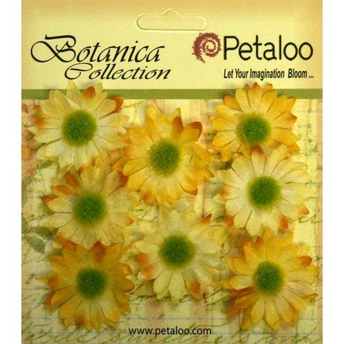 Petaloo - Botanica Collection - Floral Embellishments - Mini Gerber Daisy - Yellow