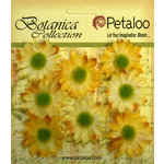 Petaloo - Botanica Collection - Floral Embellishments - Mini Gerber Daisy - Yellow