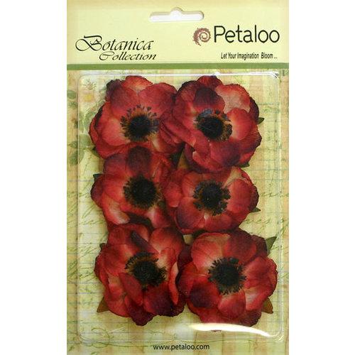 Petaloo - Botanica Collection - Floral Embellishments - Anenome - Red