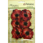 Petaloo - Botanica Collection - Floral Embellishments - Anenome - Red