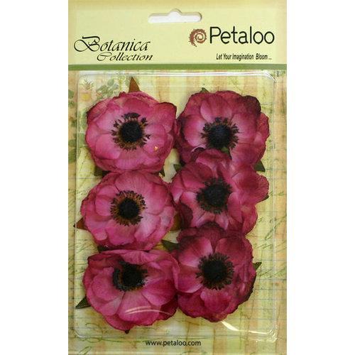 Petaloo - Botanica Collection - Floral Embellishments - Anenome - Fuchsia