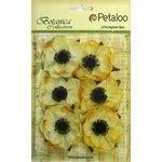 Petaloo - Botanica Collection - Floral Embellishments - Anenome - Yellow