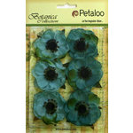Petaloo - Botanica Collection - Floral Embellishments - Anenome - Teal