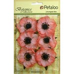 Petaloo - Botanica Collection - Floral Embellishments - Anenome - Coral