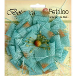Petaloo - Textured Elements Collection - Floral Embellishments - Burlap Blossom - Large - Teal
