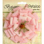 Petaloo - Textured Elements Collection - Floral Embellishments - Burlap Blossom - Large - Pink