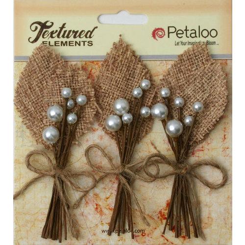 Petaloo - Burlap and Canvas Collection - Floral Embellishments - Burlap Picks - Natural