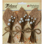 Petaloo - Burlap and Canvas Collection - Floral Embellishments - Burlap Picks - Natural