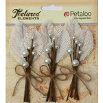 Petaloo - Burlap and Canvas Collection - Floral Embellishments - Burlap Picks - Ivory