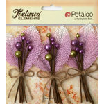 Petaloo - Burlap and Canvas Collection - Floral Embellishments - Burlap Picks - Lavender