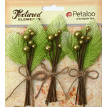 Petaloo - Burlap and Canvas Collection - Floral Embellishments - Burlap Picks - Pistachio