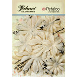 Petaloo - Burlap and Canvas Collection - Floral Embellishments - Daisy Flower Layers - Ivory