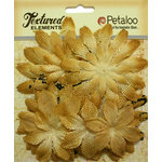 Petaloo - Textured Elements Collection - Floral Embellishments - Daisy Layers - Antique Gold