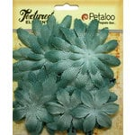 Petaloo - Textured Elements Collection - Floral Embellishments - Daisy Layers - Antique Blue
