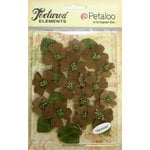 Petaloo - Burlap and Canvas Collection - Floral Embellishments - Dogwood - Canvas - Natural