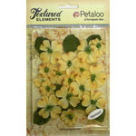 Petaloo - Burlap and Canvas Collection - Floral Embellishments - Dogwood - Canvas - Yellow