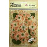 Petaloo - Burlap and Canvas Collection - Floral Embellishments - Dogwood - Canvas - Peach