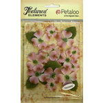 Petaloo - Burlap and Canvas Collection - Floral Embellishments - Dogwood - Canvas - Lavender