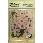 Petaloo - Burlap and Canvas Collection - Floral Embellishments - Dogwood - Canvas - Pink