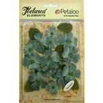 Petaloo - Burlap and Canvas Collection - Floral Embellishments - Dogwood - Canvas - Antique Blue