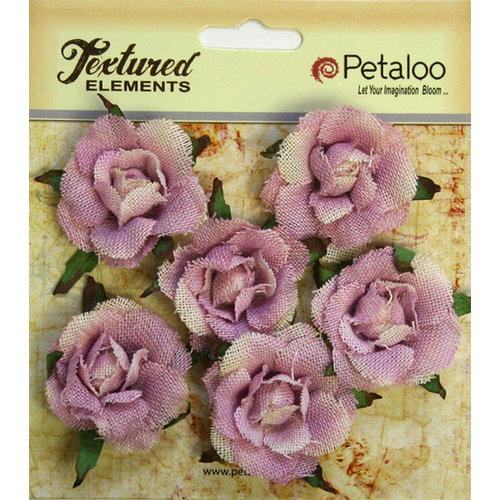 Petaloo - Burlap and Canvas Collection - Floral Embellishments - Garden Rosettes - Canvas - Lavender