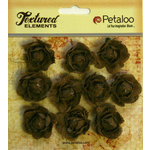 Petaloo - Burlap and Canvas Collection - Floral Embellishments - Mini Garden Rosettes - Canvas - Natural
