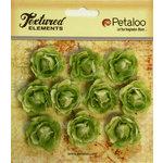Petaloo - Burlap and Canvas Collection - Floral Embellishments - Mini Garden Rosettes - Canvas - Green