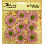 Petaloo - Burlap and Canvas Collection - Floral Embellishments - Mini Daisies - Burlap - Lavender