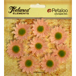 Petaloo - Burlap and Canvas Collection - Floral Embellishments - Mini Daisies - Burlap - Pink
