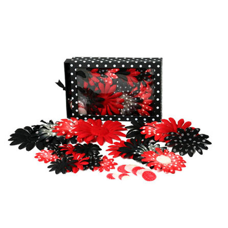 Petaloo - It's Magic Mickey Collection - Flowers - Daisy Box Blend - Large - Red and Black