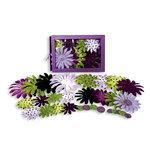 Petaloo - Flora Doodles - Daisy Box Blend - Large - Lavender Purple Green and Black