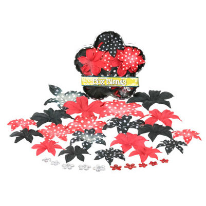 Petaloo - It's Magic Mickey Disney Collection - Flowers - Dahlia Box Blend - Large - Red and Black, CLEARANCE