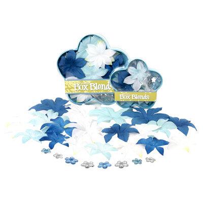 Petaloo - Flora Doodles Collection - Handmade Flowers - Glittered Dahlia Box Blend - Winter, CLEARANCE